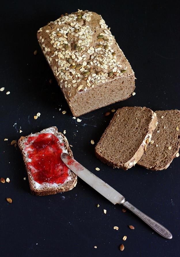 Rye Whole Wheat Sourdough Bread