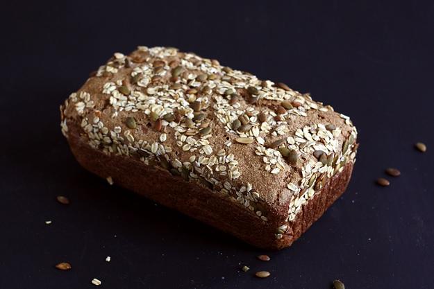 Rye Sourdough Bread (no knead)