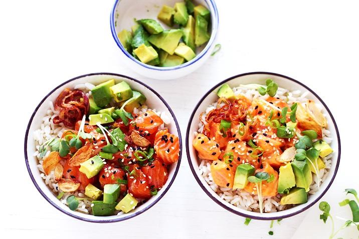 Salmon Poke Bowls Recipe