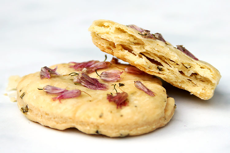 Savory herb cookies recipe with chive