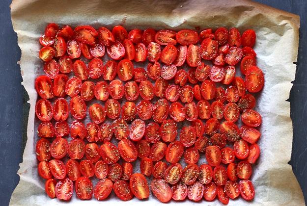 Semi dried tomatoes oven method