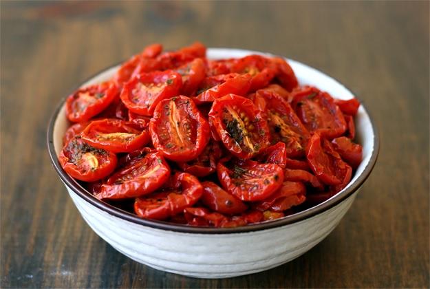 Semi dried tomatoes - Recipe