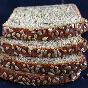 Easy Sunflower Bread (no-knead)