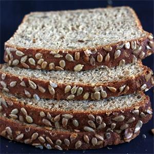Easy Sunflower Bread (no-knead)