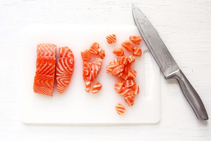 Sushi grade Samon for Poke Bowl