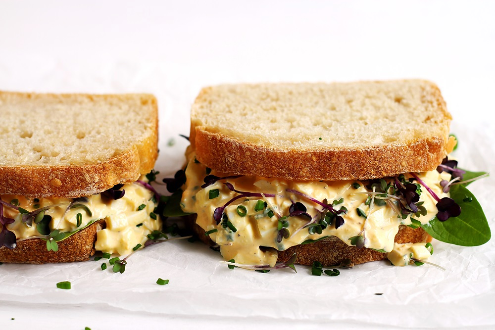 The Best Egg Salad Sandwich without mayo