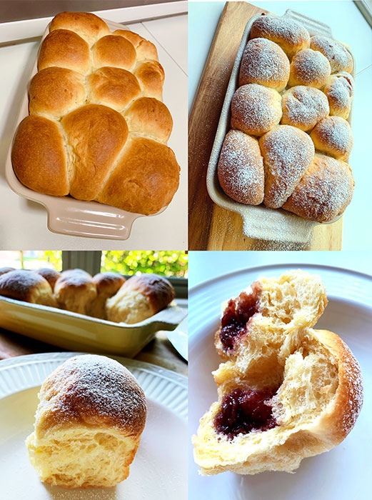 Fluffy sweet yeast buns