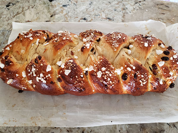 A fluffy homemade brioche zopf using a lilvienna recipe