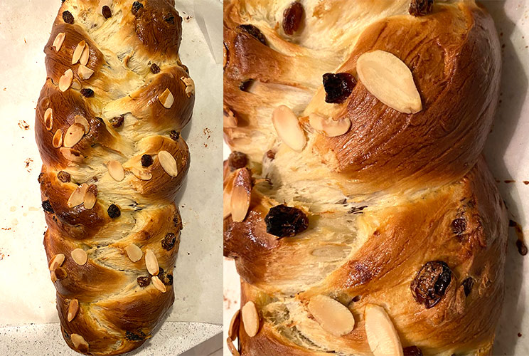homemade brioche raisin bread from ayesha, using a lilvienna recipe
