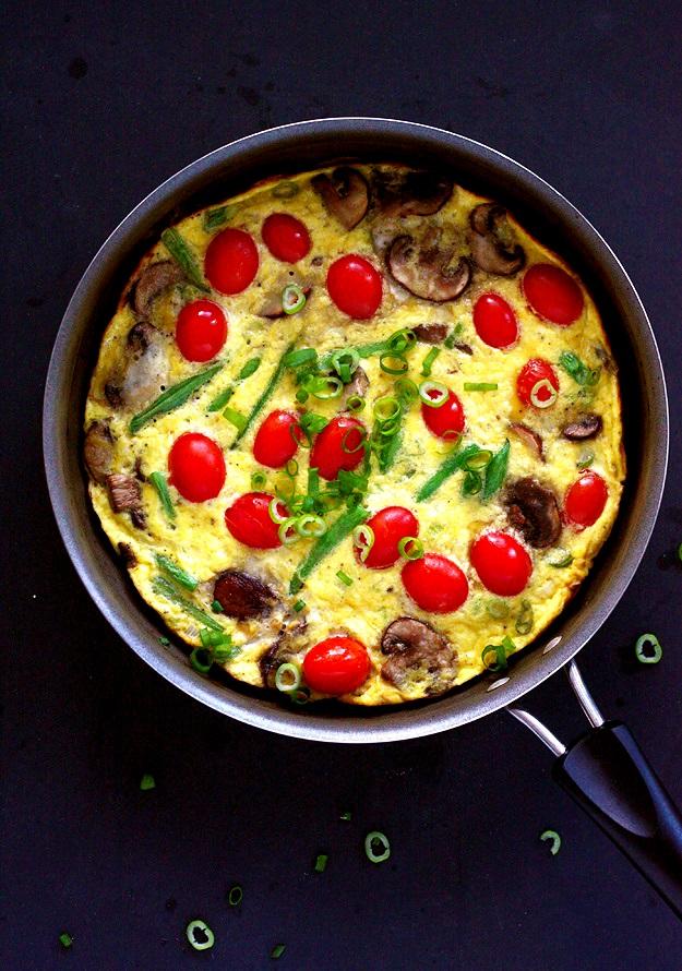 Veggie Stovetop Frittata Recipe