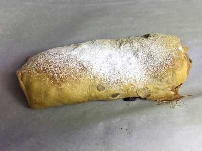 Apple strudel made by user