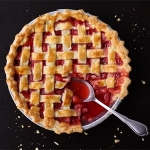 Lattice Top Strawberry Pie