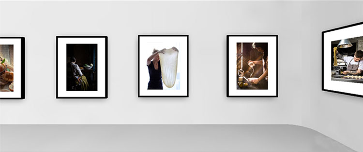 screenshot of virtual gallery exhibition pink lady