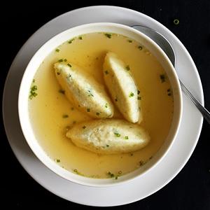 Semolina Dumpling Soup (Griessnockerlsuppe)